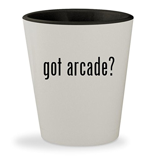got arcade? - White Outer & Black Inner Ceramic 1.5oz Shot Glass