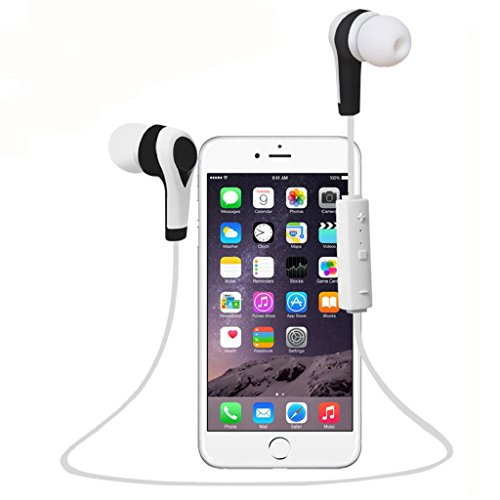 Price comparison product image TOOPOOT Bluetooth Wireless In-Ear Stereo Waterproof Sports Headphones (White)