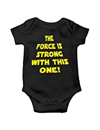 Witty Fashions The Force is Strong with This One -Star Galaxy Cute Baby Bodysuit