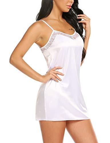 - Avidlove Women Lingerie Satin Babydoll Strap Sleepwear Lace Chemise