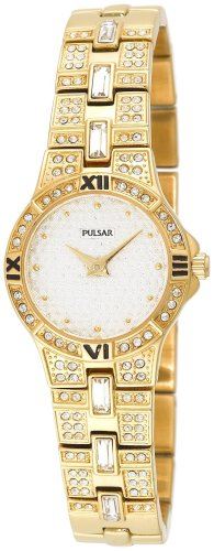 Pulsar Women's PTA368 Crystal Accented Gold-Tone Stainless Steel Watch