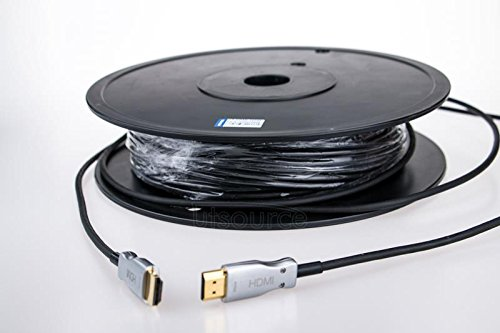 166' Cable (UTOPTICAL HDMI Fiber Cable 166 feet Light High Speed Support 18.2 Gbps 4K at 60Hz HDMI 2.0 , Flexible With Optic Technology 50m)