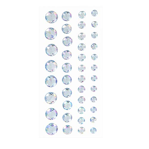 Darice 30053454 Iridescent Light Blue, 42 Pieces Bling Stickers