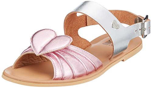 Love Moschino San.Lod./10 Lam.RS/VAC.Lam.ARG, Sandales Bride Arrière Femme Multicolore (Pink-silver)
