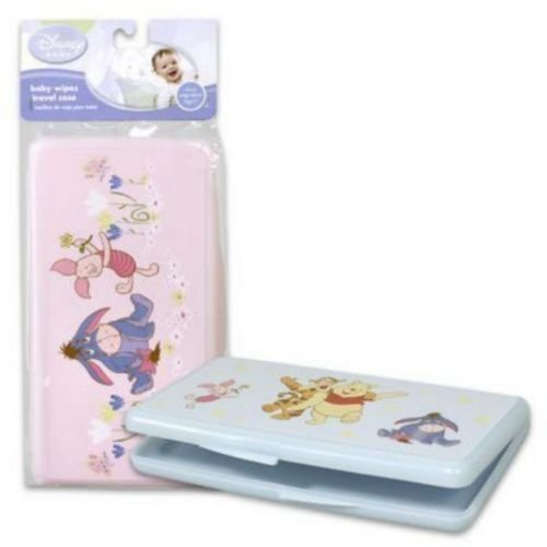 Disney Winnie The Pooh Characters Travel Baby Wipes Case Color: Pink Eeyore & Piglet NewBorn, Kid, Child, Childern, Infant, (Eeyore Character)
