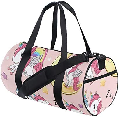 ZOMOY Sporttasche,Abstrakter kreisförmiger Pastellform Druck,Neue Bedruckte Eimer Sporttasche Fitness Taschen Reisetasche Gepäck Leinwand Handtasche