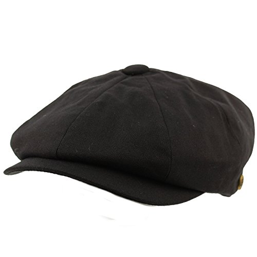 2de5536f5b2 SK Hat shop Men s 8 Panel Solid Plain 100% Cotton Snap Newsboy Drivers  Cabbie Cap