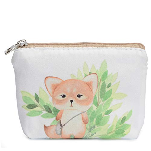 Women and Girls Cute Fashion Coin Purse Wallet Bag Change Pouch Key Holder (Little Squirrel)