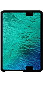 "Funda para Kindle Fire HD 7"" (2012 Version) - Océano Digital Turquesa Del Agua"