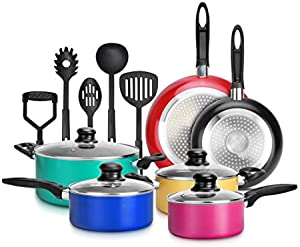 15-Piece Nonstick Kitchen Cookware Set