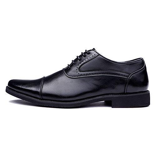 Retro Stile Casual Nero Scarpe comode Inglese Business da a Scarpe Punta Men Oxford Cricket t61wqnUxYA