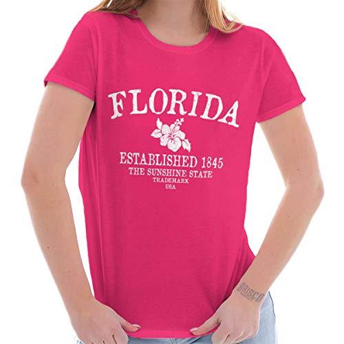 Womens Cute Graphic T Shirt Florida State Trademark Souvenir Destination