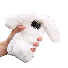 Hi,Thank you for your attention to our store,Have a good day!!Function:Shockproof For Phone warm yourself Gift For the person you love! Style 3:Fashion Elegant Luxury Cute Lovely 3D DIY Soft Soft Rabbit Hair Case Features:Cute Warm Rabbit Ear...