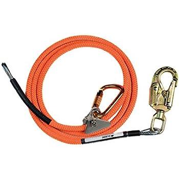 """Flipline 5//8/"""" x 12/' Steel Core Flip line Kit  Steel Swivel Snap hook"""