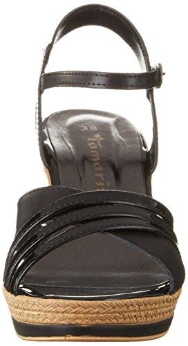 Tamaris 28394 - Sandalias de vestir de material sintético para mujer Negro (Black Uni 007)