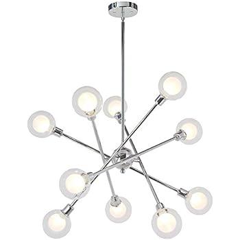 amazon vinluz sputnik chandelier lighting 10 lights glass  vinluz sputnik chandelier lighting 10 lights glass sphere modern pendant light g9 base ceiling light fixture