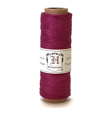 Hemp Cord Spool 10# Dark Pink 205 Feet (Cord Pink Hemp)