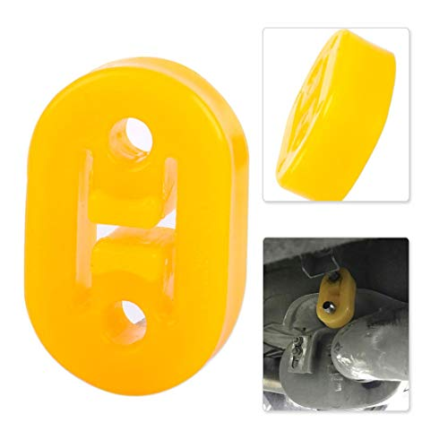 Cacys-Store - Car Yellow H Shape 2 Hole Exhaust Pipe Rubber Mount Hanger Brackets Replace for VW Golf Audi Mazda Hyundai For Honda Chevrolet