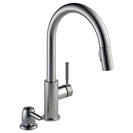 Delta Trask Stainless Single Handle Pull Down Kitchen Faucet With