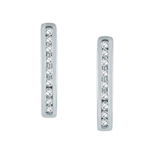 Giantti Diamant pour femme Boucles d'oreilles créoles (0.2466CT, VS Clarté, Gh-colour)