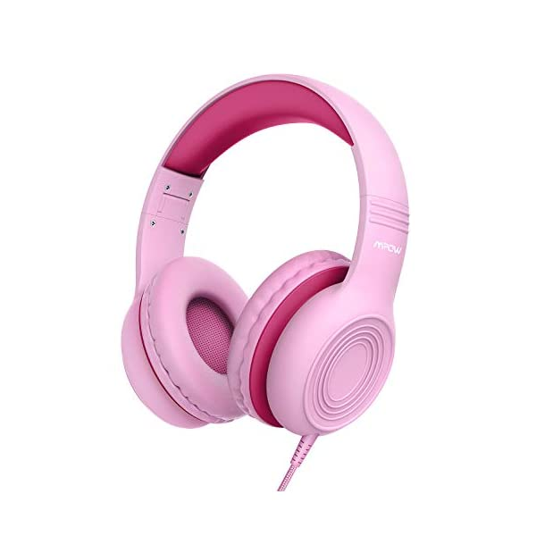 Kids Headphones, Mpow CH6S Children Headphone Over Ear, Wired Headset Volume Limited and Sharing Function Child Earphones Foldable Headphones, 3.5mm Jack with Mic for School/Travel/Phone/Kindle/PC/MP3