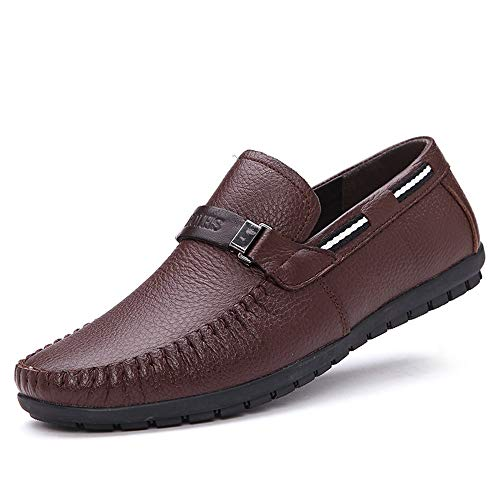 Shoes Slip Suola on Driving Boat Casual Shoes Ywqwdae Dimensione Morbida Buckle for 40 Smart Marrone Antiscivolo EU Colore Men IndC0wq