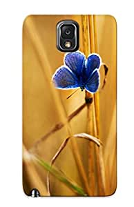 Exultantor Premium Protective Hard Case For Galaxy Note 3- Nice Design - Mission Blue Butterfly