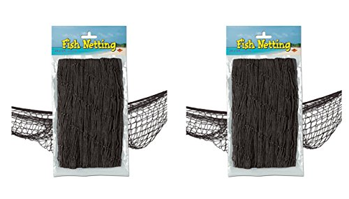Beistle S50301-BKAZ2 Fish Netting 2 Piece Black ()