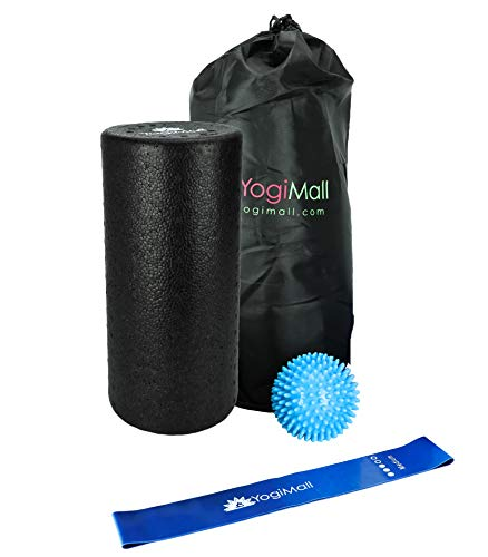 YogiMall 2 in 1 Foam Roller Set with Carry Bag | High Density Textured Roller + Soft Inner Roller for Myofascial Release, Physical Therapy & Muscle Trigger Point Massage