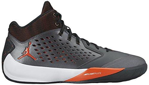 Nike Heren Jordan Stijgende Hoge Leren Trainers Metallic Hmtt / Wemelen Oranje-zwart-atmc Of