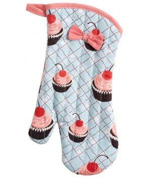 Jessie Steele Blue Cherry Cupcake Oven Mitt