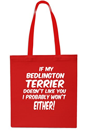 42cm RED Doesn't Bag Probably Won't Terrier 10 x38cm I My Bedlington litres Like If SAPPHIRE Either Tote Beach You Shopping Gym wRZSW