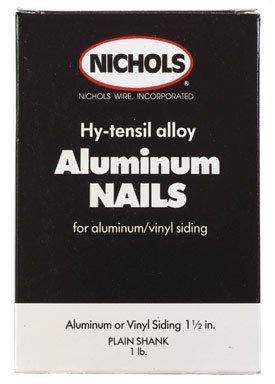 Nichols Wires Siding Nail 1-1/2 '' Plain Aluminum 11 Ga Box 1 Lb.