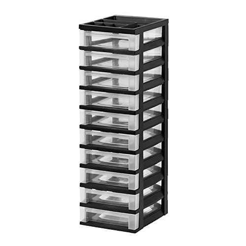 ge Cart with Organizer Top, Black ()