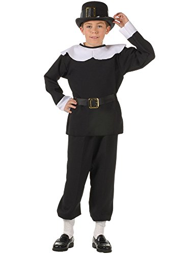 4th Of July Costumes Ideas (RG Costumes Pilgrim Boy Costume, Black/White, Small)