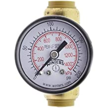 "SharkBite Pressure Gauge with 1/2"" Tee (Lead Free)"
