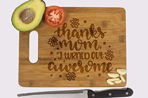 - Custom Engraved Cutting Board, Best Mom Ever, Personalized Bamboo Wood Cutting Board, Engraved // Mother's Day, Birthday Gift,
