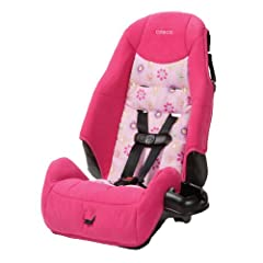 "The Cosco Juvenile High Back Booster Car Seat, designed for children 22 to 80 pounds, features shoulder belt guides and a removable cup holder. Forward-facing 22-40 pounds 34"" to 43"". Belt-positioning booster 40-80 pounds 43 to 52 inches. 5-p..."