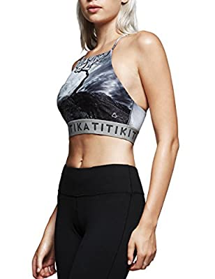 TITIKA WOMEN'S YOGA light impact Bra workout tanks or show it off or paired with leggings.