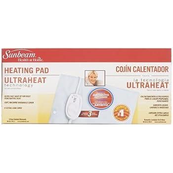 Amazon.com: 3 each: Sunbeam Heating Pad (756-8): Home ...