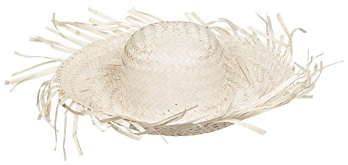 Summer Beach Hat Hawaiian Luau Costume Dress Up Party Headwear, Straw, Natural Brown, 4