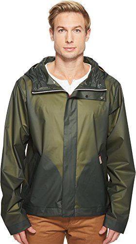 Hunter  Men's Original Vinyl Windcheater Dark Olive Outerwear by Hunter