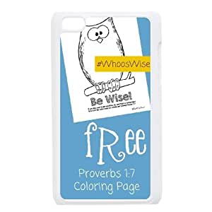 Fggcc Owl Reading At Night Case for Ipod Touch 4,Owl Reading At Night Ipod Touch 4 Cell Phone Case (pattern 15)