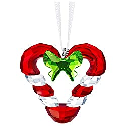 Crystal Candy Cane Heart Ornament