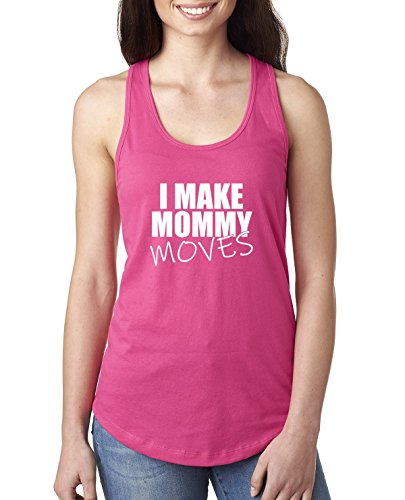 I Make Mommy Moves | Bardi Gang Lyrics | Womens Pop Culture Jersey Racerback Tank Top, Raspberry, X-Large