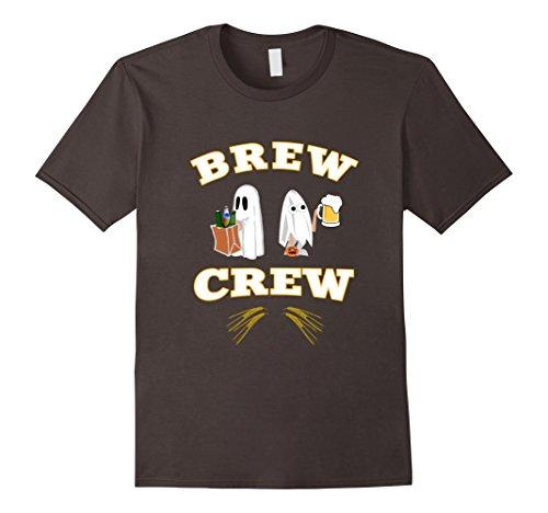 Mens Cute Halloween brew crew wine beer lovers funny gift t-shirt XL Asphalt