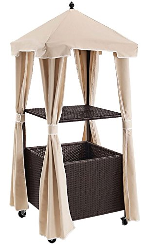 Etonnant Crosley Furniture Palm Harbor Outdoor Wicker Rolling Towel Valet With Sand  Cover   Brown