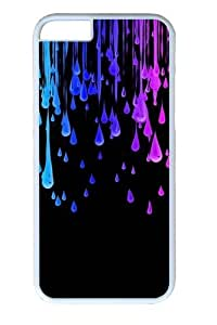Colored Drops PC Case Cover for iphone 5c and iphone 5c inch White