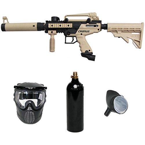Tippmann Cronus Paintball Marker Gun -Tactical Edition- Tan Basic Package