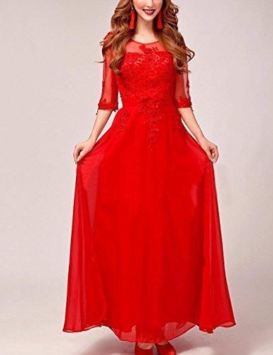 Abschlussball Perspektive Abendkleid Bestickt Hochzeitskleider Lactraum Brautjungfernkleid Ballkleid Kleider LF4067 Abiballkleid 1 Arm 2 tAIzInq